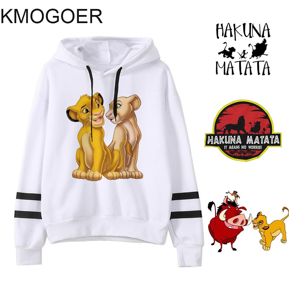 The Lion King Hakuna Matata Pullover For Girls Streetwear Women's Sweatshirt Autumn Ulzzang Kawaii HAKUNA MATATA Women Hooodies