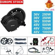 Bafang BBS02 bbshd 48v 500 ワット/750 ワット/1000 ワット 36V250W/350 ワット/500 ワットmidドライブ方式モータキット 8fun自転車エンジン電動自転車キット