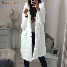 KANCOOLD coats MINIMALIST STYLE Warm Faux Fur Jacket Winter Hooded Sleeveless Outerwear Solid coats and jackets women 2019Sep20(China)