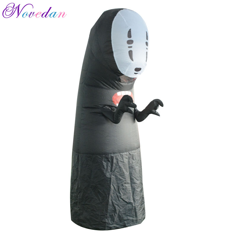 No Face Man Inflatable Costumes Cosplay For Adult Woman Man Halloween Party Performance Club Inflatable Costumes