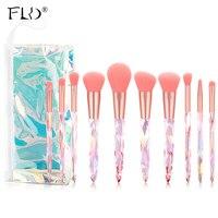 FLD Diamant Make-Up Pinsel Set Tasche Professionelle Kosmetische Foundation Pulver Lidschatten Blending Erröten Concealer Pinsel Werkzeuge