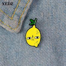 Xedz fresh grideed lemon металлический значок мультфильм фрукты