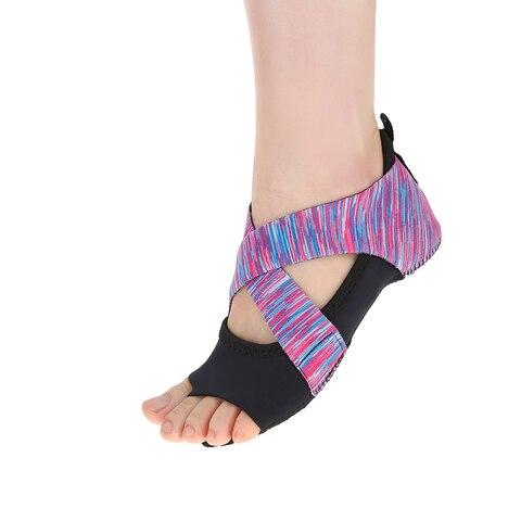 Sapatos de Yoga Material de Borracha Tamanhos Diferentes Feminino Ultra Leve Antiderrapante Sola Pilates Barre Macio Envoltório Dança Formação Sapatos 3