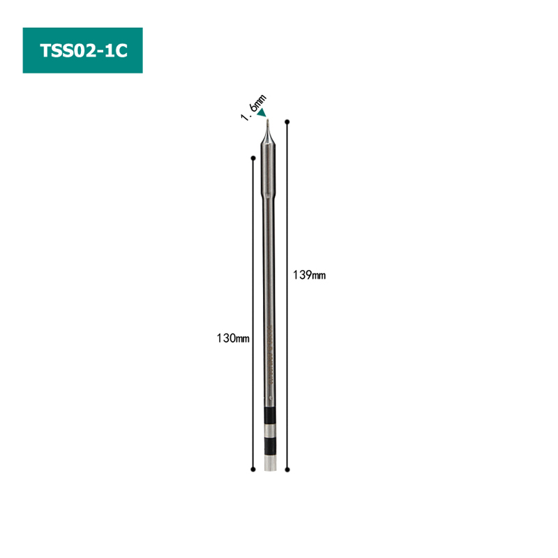 TSS02 Solder Tips for QUICK TS1200A Lead-free Soldering Station TSS02-SK TSS02-K TSS02-3C TSS02-I TSS02-J TSS02-1C TSS02-2C 6