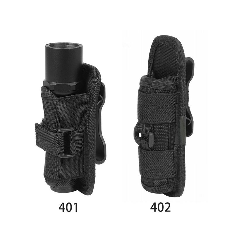 Tactical 360 Degrees Rotatable Flashlight Pouch Holster Torch Case For Belt Torch Cover Hunting Lighting Accessories