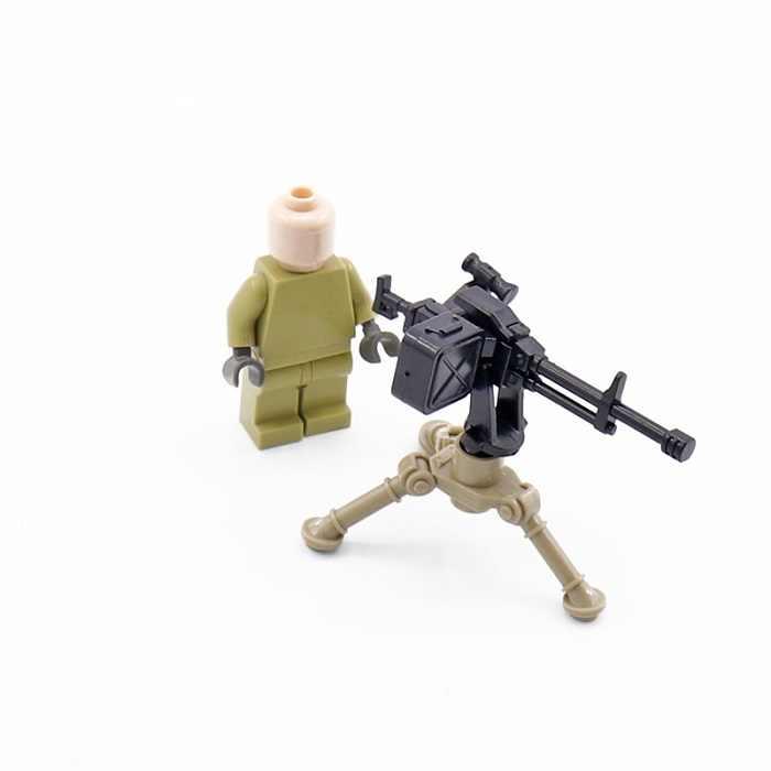 NSV Metralhadora Pesada Do Exército Swat Polícia Militar Arma Acessórios Cidade Playmobil Mini-figuras Blocos Modelo Brinquedos de Peças Originais