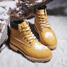 Outdoor fashion men's boots for new sports shoes winter work safety sho