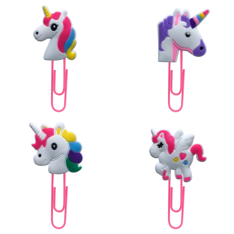 1Pcs Unicorn Figures Bookmark For Book Paper Clip School Student Supplies DIY Decoration For Kids Gifts