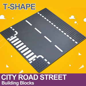 Image 5 - City Road Street Baseplate Straight Crossroad Curve T Junction Building Blocks 7280 7281 Base Plate compatible LegoINGlys City