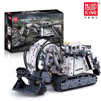 Compatible with 42100 Liebherred Terex Technic Series Excavator R9800 Car Model Building Blocks Bricks Toys For Children Gifts moc technic series truck the r 9800 excavator truck model building blocks bricks compatible lepining 42100 toys for kids gifts
