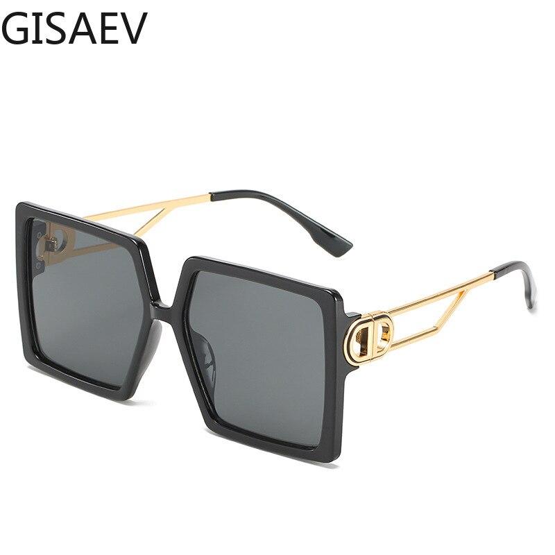 GISAEV Fahren Gläser Frauen Übergroßen Quadratischen Rahmen Brief D Sonnenbrille Vintage D form Übergroßen Rahmen Beliebte Mode Gläser