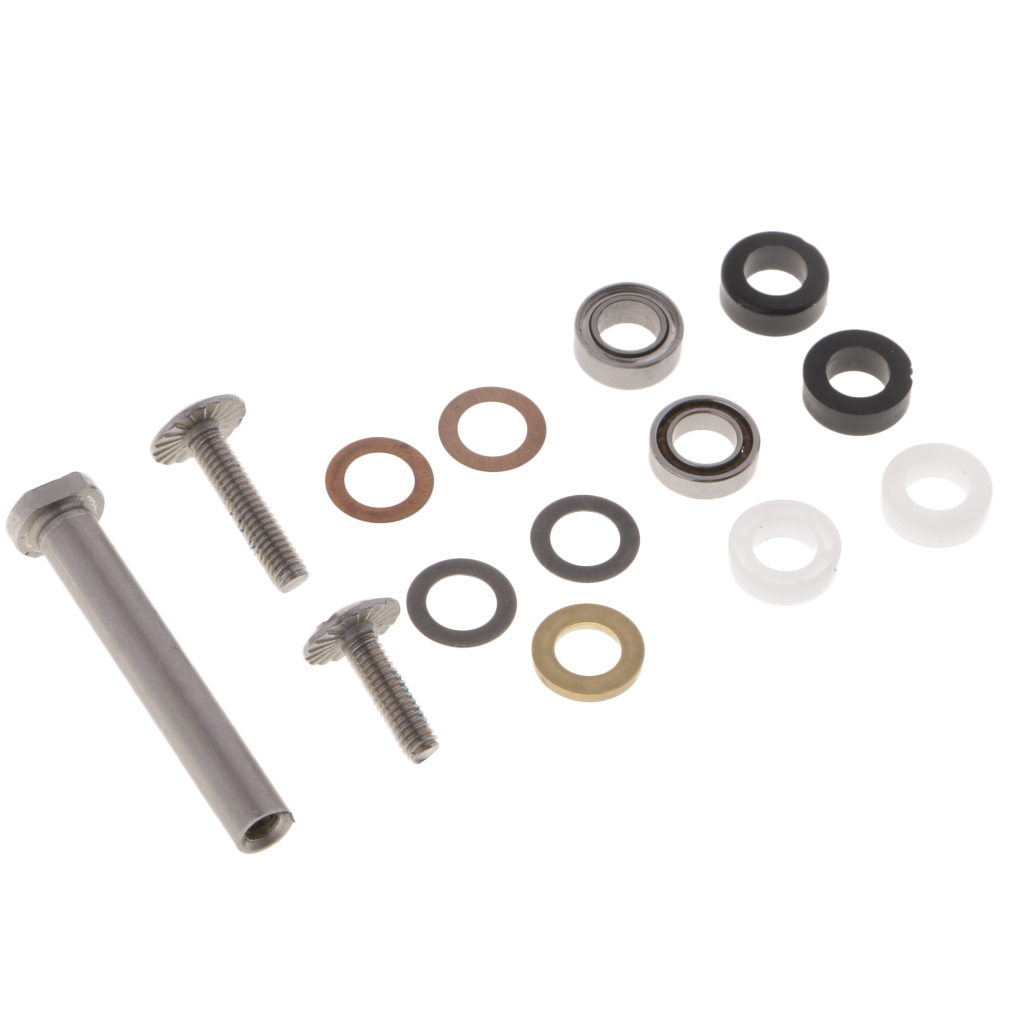 4 X 7mm Fishing Reel Handle Knob Component Parts With Bearings, Washers, Screws