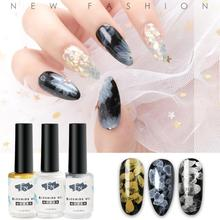 Manicure Nail Art Polish Gel Sands Halo Bubbles Painted Shop Special Gold and Silver Quick-drying Glue R10
