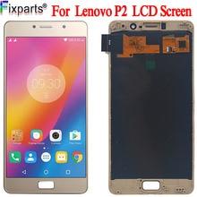 "Amoled LCD עבור Lenovo P2 P2c72 P2a42 תצוגת מגע מסך Digitizer פנל עצרת 5.5 ""עבור Lenovo P2 LCD"