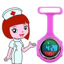 Новинка, многофункциональные часы для медсестры из силиконовой резины для женщин, женщин, девушек, доктора, медицинской больницы, Цифровой брелок, карманный электронный светильник, часы