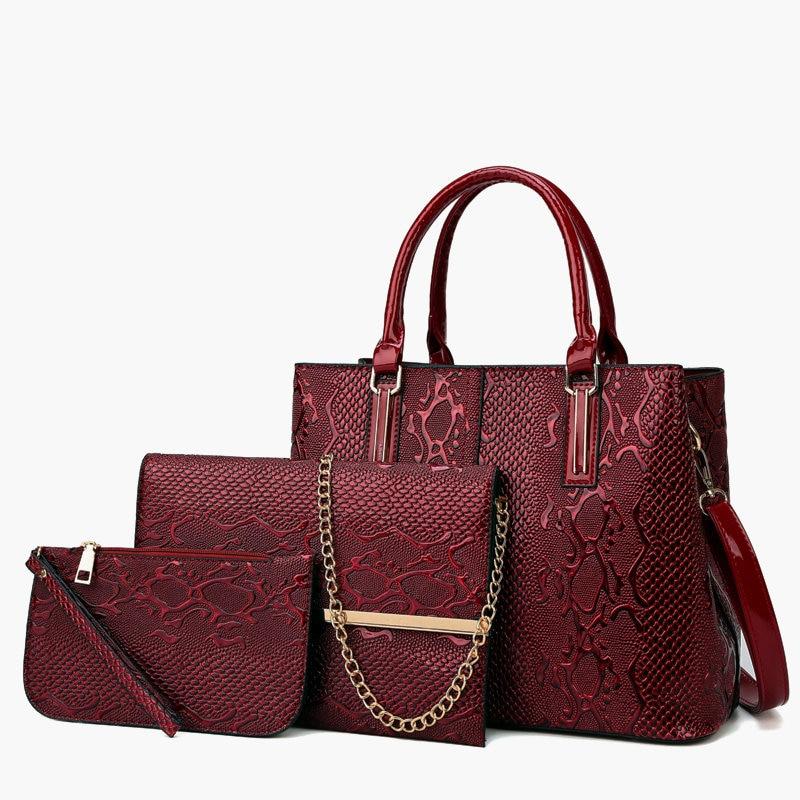 Fabra Composite Bag 2019 Top Women Handbag Shoulder Bags 3 Pieces/Lot Casual Tote Messenger Crossbody Bags+Wallet +Clutch