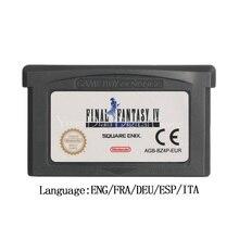 Para nintendo gba jogo de vídeo cartucho console cartão final fantasia iv avanço versão da ue