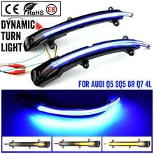 2PCS Dynamic LED Turn Signal Light Sequential Rear View MIRROR Turn Signal Light Blinker For Audi Q5 SQ5 Q7 SQ7