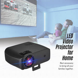 Portable LED Video Projector 2800 Lumen 15000:1 Contrast Ratio 1280*720P Resolution Full Color Display WiFi BT Connection