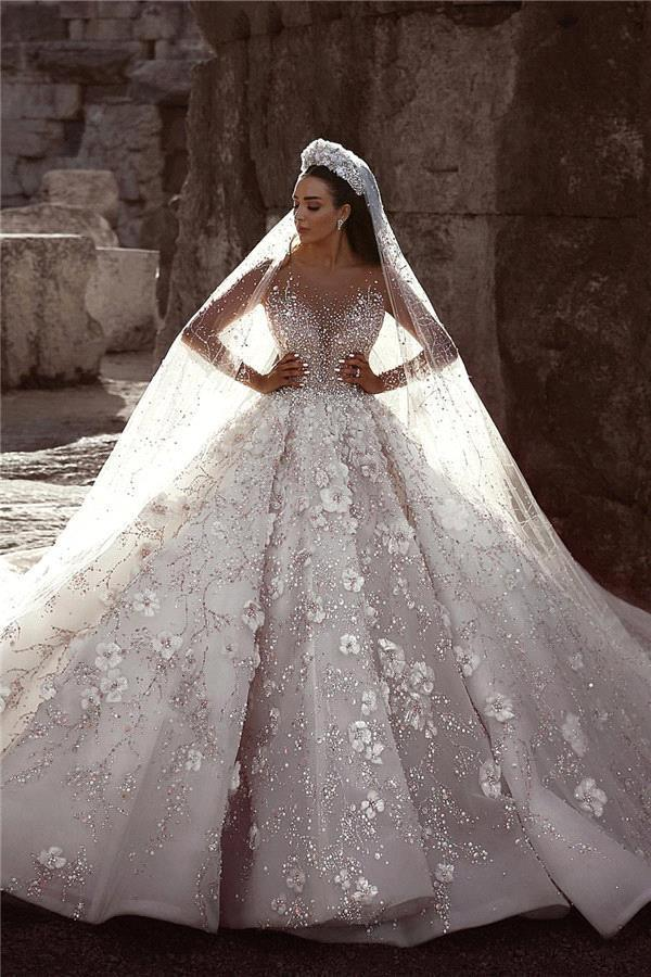 Wedding Gown With Long Veil 65 Off Plykart Com