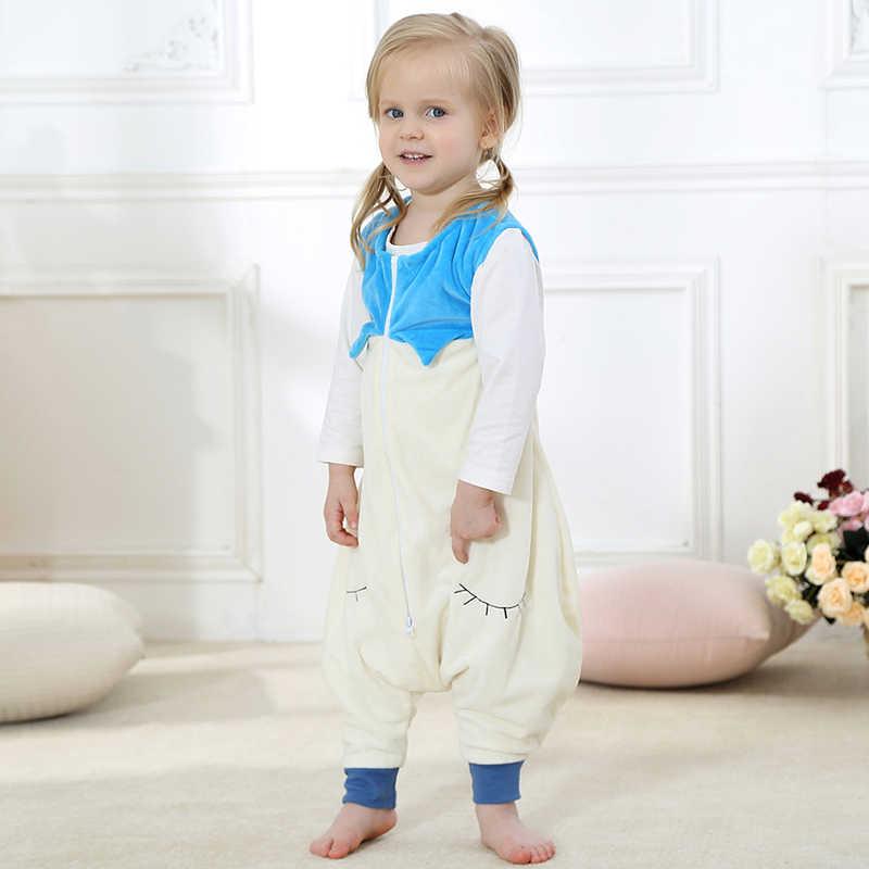 MICHLEY dziecko torba Sleeper jesień zima dzieci kombinezon flanelowe dziecko kocyk dla zwierząt Kid piżamy One Piece koc Sleeper SP003