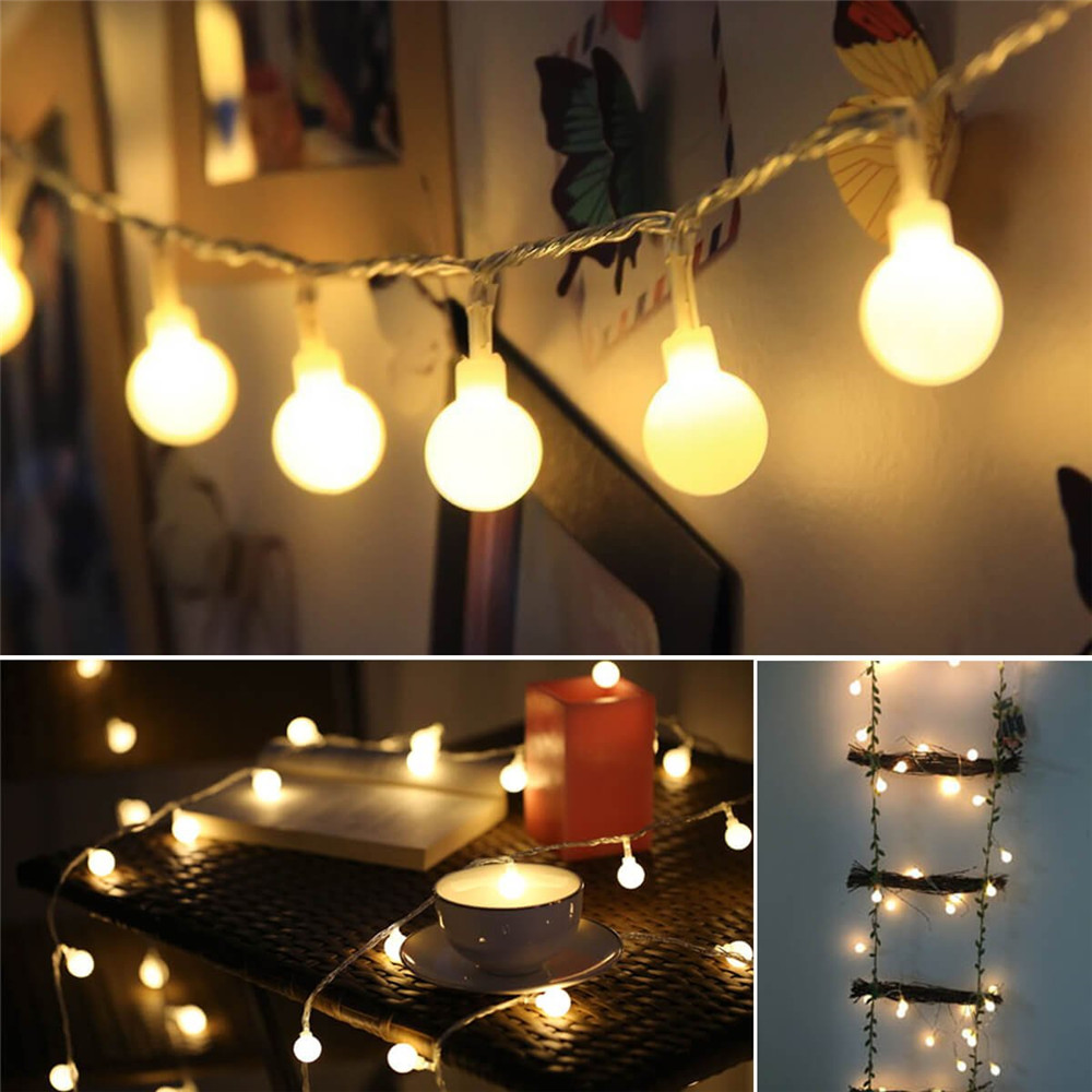 Luces LED de decoración navideña para jardín, forma de pelota redonda, lámpara de tira de ratán, luces de hadas, Garad LED, nuevo para el hogar, año Matamoscas eléctrico multifunción LED, matamoscas, matamosquitos, matamoscas, matamosquitos, sin batería