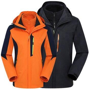Winter Outdoor Hiking Jackets Men Softshell Fleece Waterproof Jackets Women Windproof Sport Windbreaker Ski Hunting Jackets