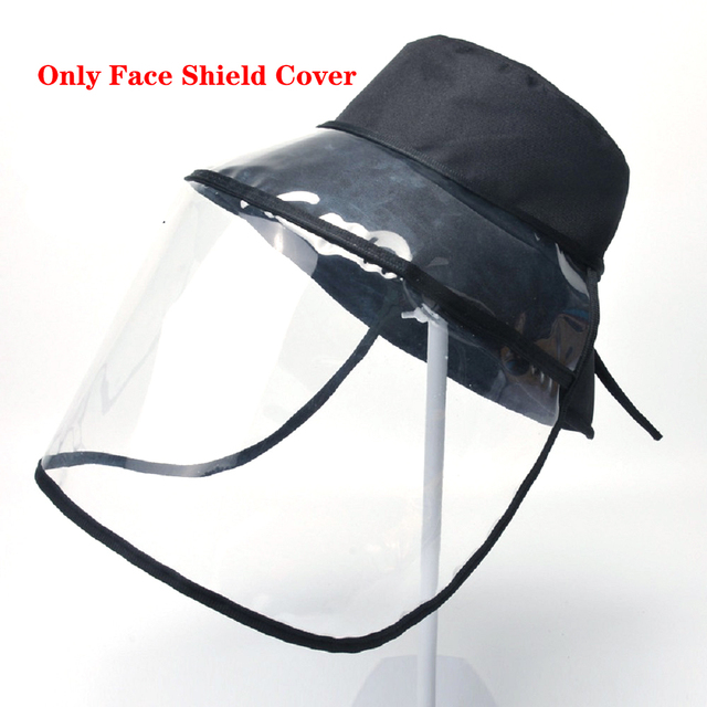 Dual-use Sun Hat Protective Face Shield Cover Hat Anti Spitting Saliva Drool Baseball Cap With Detachable Clear Facial Mask 2