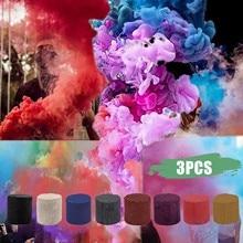 3pcs Smoke Cake Colorful Spray Smoke Effect Show Party Stage Studio Photo Props Magic Fog Smokes Gifts Photography Supplies