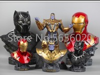 Black Panther Bust Doll Resin figure Garage Kit 1/2 scale painted figure Captain America III Iron Man MK46
