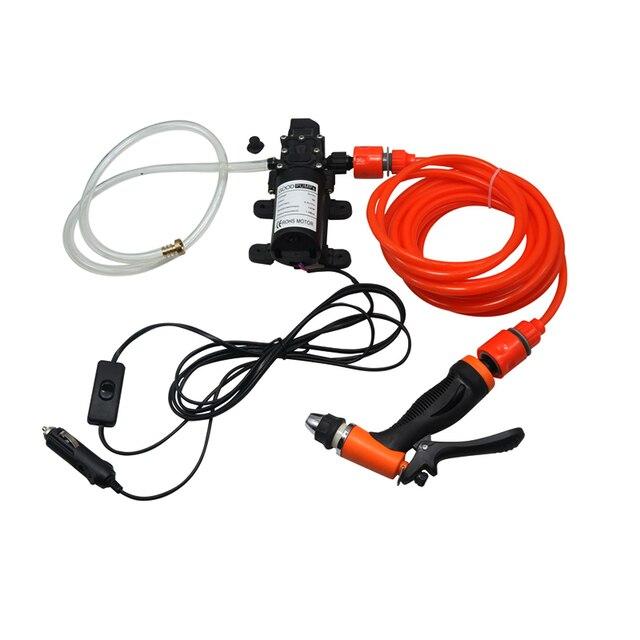 1 セット 12v洗車銃ポンプ高圧クリーナーカーケアポータブル洗濯機、電気掃除自動装置