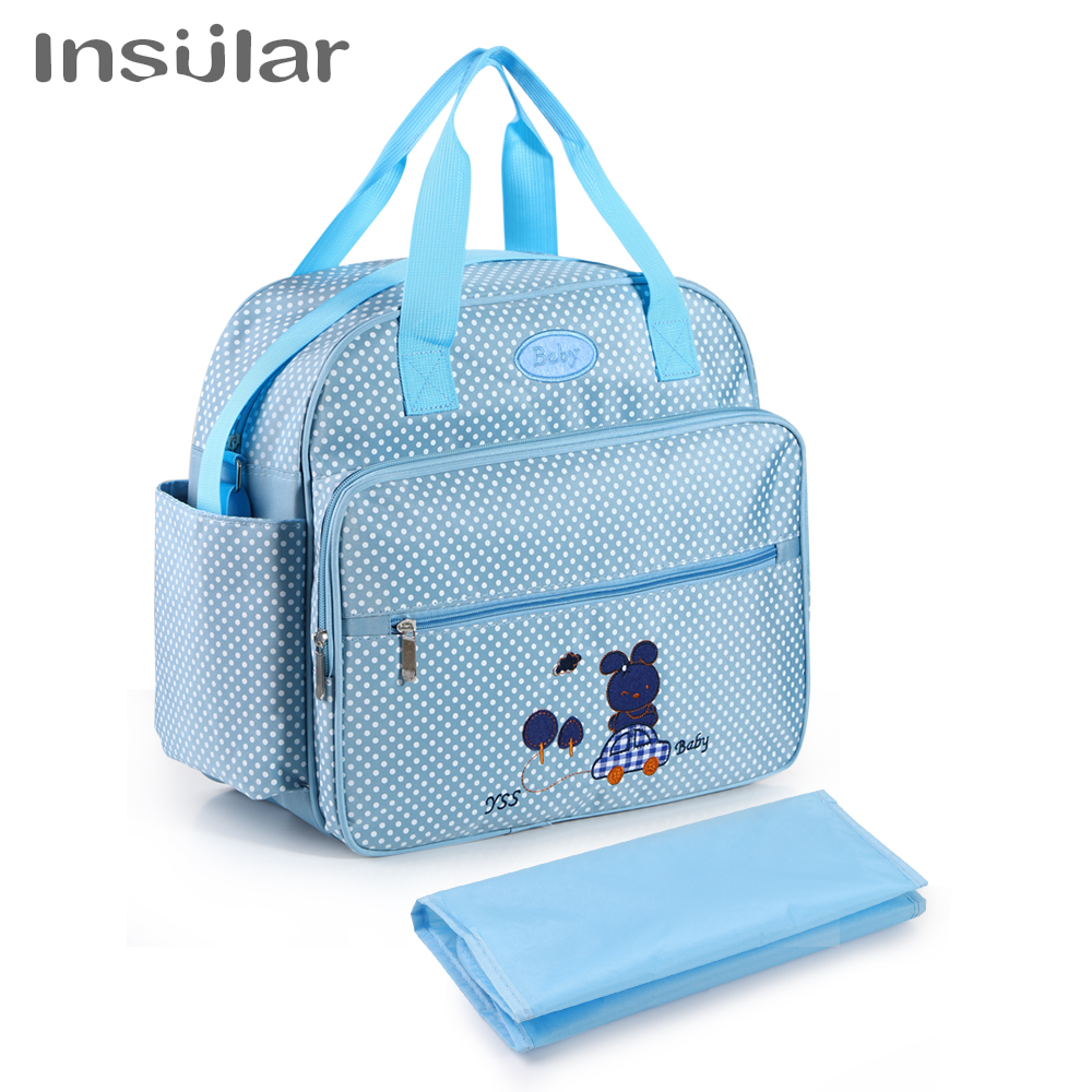 INSULAR Baby Bag Mummy Maternity Nappy Bag Diaper Bags Printed Fashion Shoulder Messenger Mother And Baby Out Package