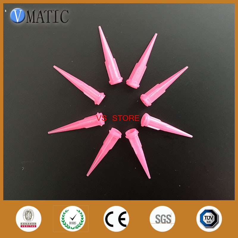 Free Shipping 100Pcs 20G TT Tapered Tips Dispensing Needles Pink Color Plastic Glue Dispenser Needle Nozzle