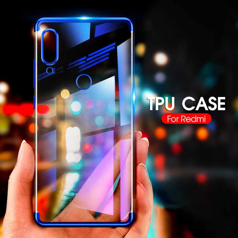 Caso de Telefone TPU macio Para Xiaomi Redmi Nota 7 K20 6 6 Pro 4A 5 Pro Tampa Traseira Para Redmi 5A 6A 7A K20 Pro 5 Plus Caso Galvanizados