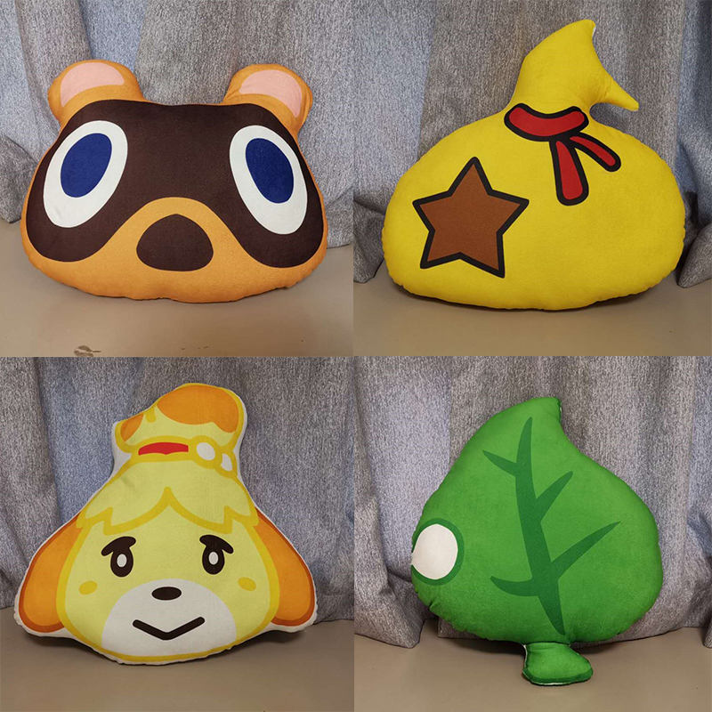 40cm Game Animal Crossing Plush Pillow Cushion Leaf Tom Nook Doll Toys Cosplay Props Gift For Kids image