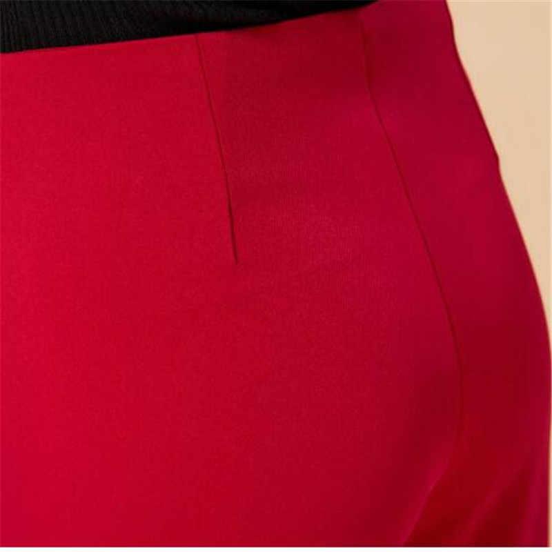 Lente En Herfst Dames Wijde Pijpen Broek Zwart Volledige Lengte Losse Hoge Taille Calca Mode Pantalon Femme Broek CJ037