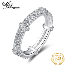 цена JewelryPalace  925 Sterling Silver Rings Cubic Zirconia Anniversary Engagement Wedding Band Bridal Jewelry for Women Fashion в интернет-магазинах