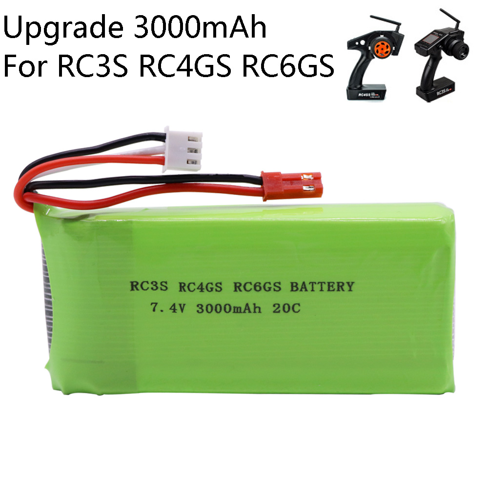 7.4V 3000mAh <font><b>lipo</b></font> battery For Radiolink RC3S RC4GS RC6GS Transmitter toy Battery <font><b>2S</b></font> <font><b>Lipo</b></font> Battery upgrade 7.4V <font><b>2800mah</b></font> toys parts image