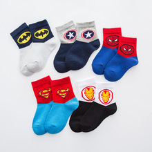 5 pairs marvel socks children baby autumn winter batman spiderman thick boys kids cotton