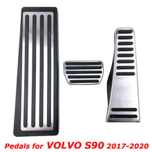 Car Accessories Pedal Covers for Volvo S90 2017 2018 2019 20