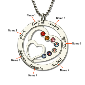 Image 4 - SG personalise 925 sterling silver 2 Heart necklaces for women 2019 new Custom birthstone and engraving name jewelry gifts