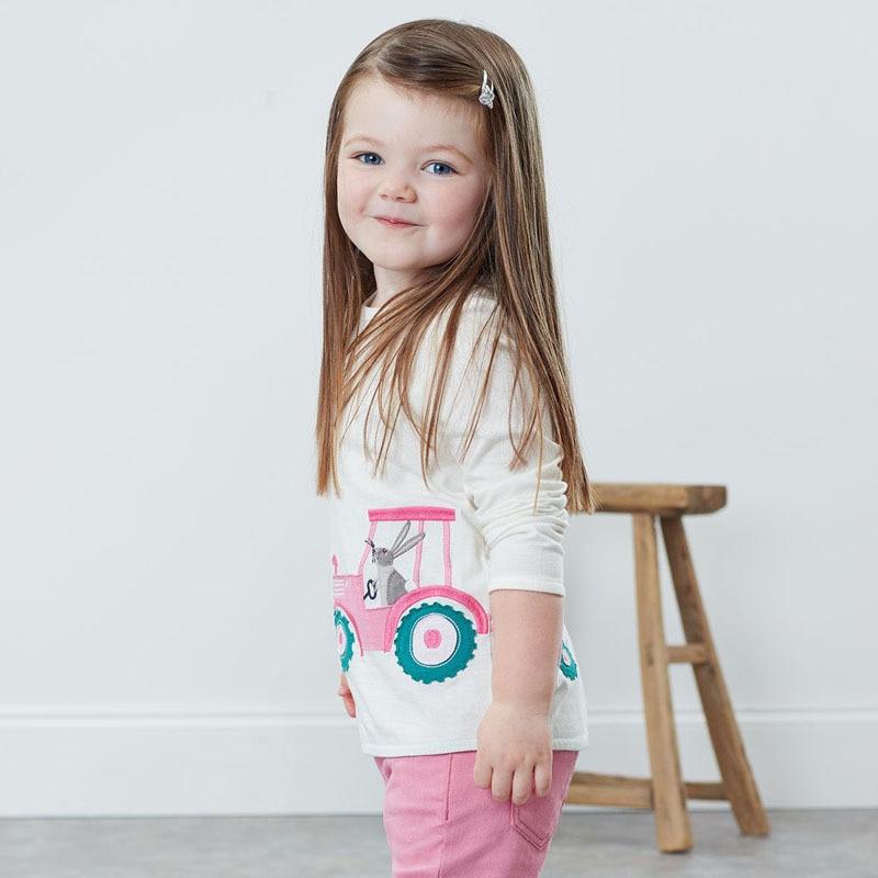 Little maven Girls Long Sleeve Shirts Animal Rabbit Children's Shirts for Kids Clothes Autumn Baby Girls Costume 3