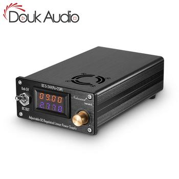Douk audio 25W Adjustable DC Regulated Linear Power Supply With USB 5V and DC 5V-24V Output For Audio DAC/Digital Players