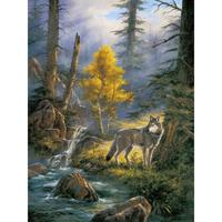 Modern landscapes paintings Timber Wolf hand painted natural animal picture canvas art home decor