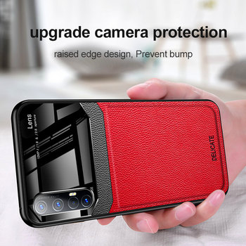 Перейти на Алиэкспресс и купить Oppo Reno 3 Pro Reno3Pro чехол из искусственной кожи плексиглас задняя крышка Жесткий чехол для Oppo Reno3 Pro Reno 3Pro 5G Защитная крышка для телефона
