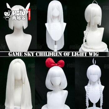 「 HSIU marca 」 Sky niños de la luz cosplay peluca blanca varios estilos pelo sintético peluca sintética de fibra