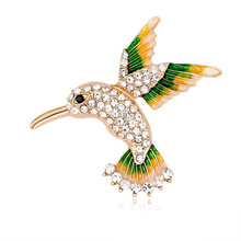Custom Korean jewelry fashion high-grade alloy diamond bird cartoon brooch spot