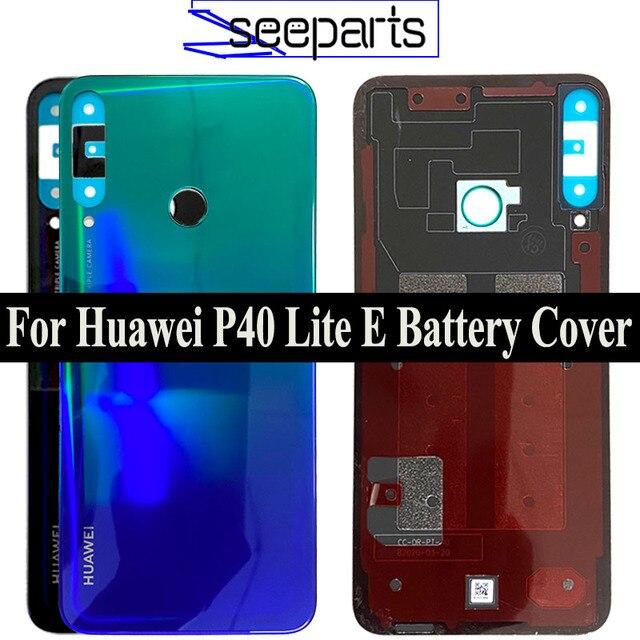100% originale Vetro Posteriore Dellalloggiamento del Portello Per Huawei P40 Lite E Posteriore della copertura di Batteria di Ricambio P40 Lite E Back cover
