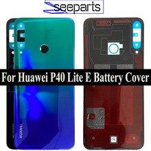 100% oryginalne szklane drzwi obudowy tylnej dla Huawei P40 Lite E tylna pokrywa baterii wymiana P40 Lite E tylna pokrywa