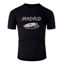 Customized Awesome Madrid Tshirt Man 100% Cotton O Neck T Shirt For Mens Solid Color Plus Size S-5xl Pop Top Tee(China)